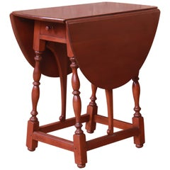 Stickley American Colonial Cherry Drop-Leaf Occasional Side Table
