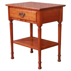Stickley American Colonial Solid Cherry Wood Nightstand or Occasional Side Table