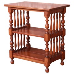Stickley American Colonial Solid Maple Three-Tier Occasional Side Table