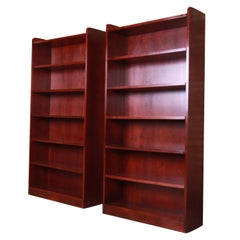 Stickley Arts & Crafts Cherrywood Tall Bookcases, Pair