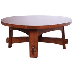Stickley Arts & Crafts Solid Oak Coffee Table