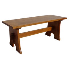 Stickley Mission Collection Cherry Trestle Bench