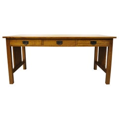 Stickley Mission Collection Fayetteville Oak Spindle Library Office Desk