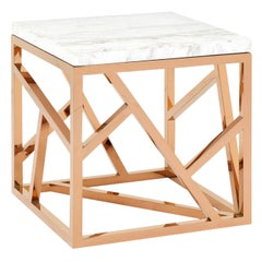 Sticks Marble Short Side Table Gold
