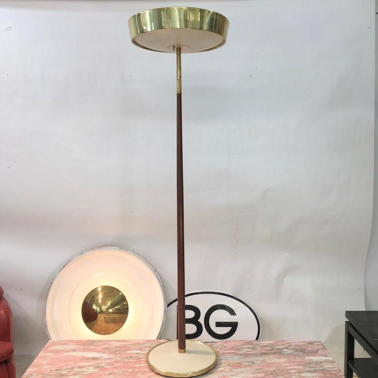 Stiffel Brass and Walnut Floor Lamp For Sale 2