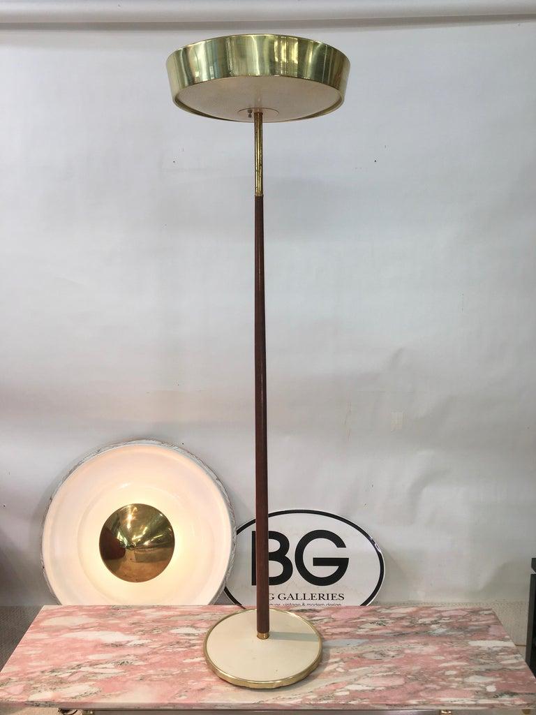 Stiffel Brass and Walnut Floor Lamp For Sale 4