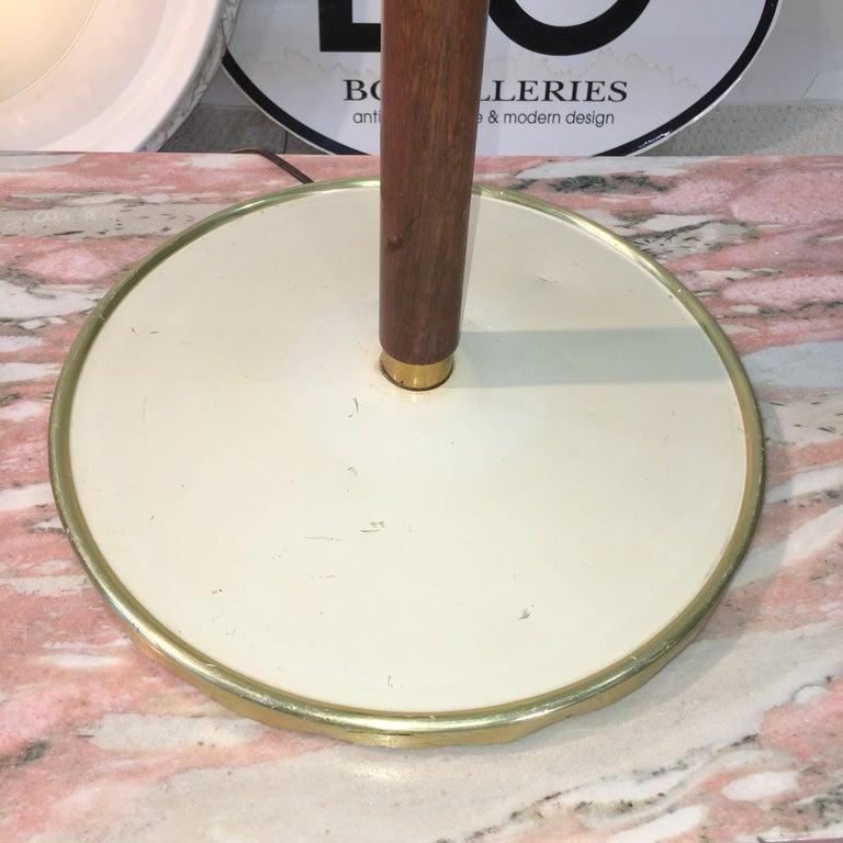 Stiffel Brass and Walnut Floor Lamp For Sale 5
