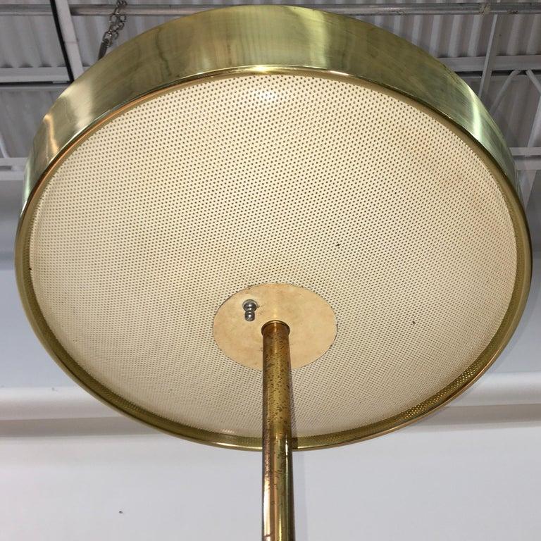 Stiffel Brass and Walnut Floor Lamp For Sale 6