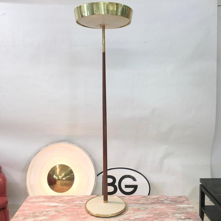 Stiffel Brass and Walnut Floor Lamp For Sale 1