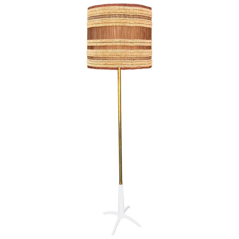 Stiffel Floor Lamp with Original Maria Kipp Shade For Sale