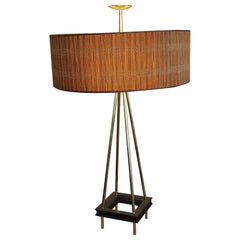 Stiffel Lamp with Original Shade, Diffusers and Finial