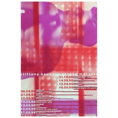 Stiftung Bauhaus Dessau Mai Original Vintage Poster