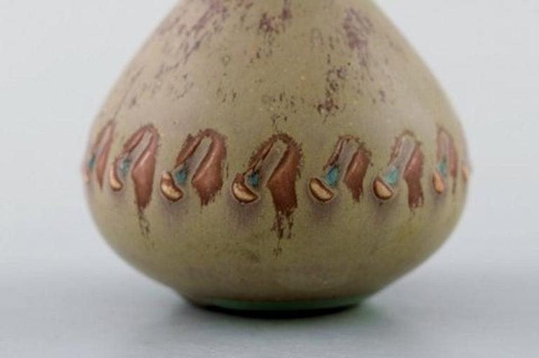 Stig Lindberg, Gustavsberg Studio Hand, Ceramic Miniature Vase In Good Condition For Sale In Copenhagen, Denmark