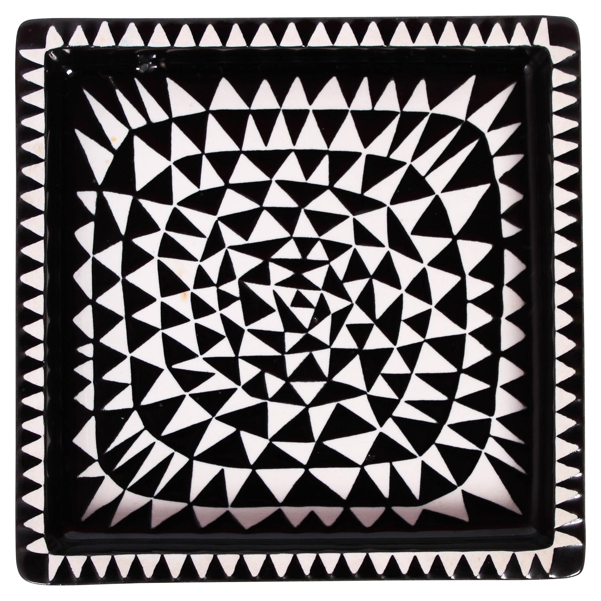 """Stig Lindberg Ceramic Ashtray """"Domino"""" by Gustavsberg, 1950s"""