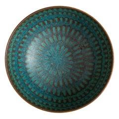 Stig Lindberg Ceramic Bowl Produced by Gustavsberg in Sweden