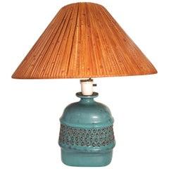 Stig Lindberg Ceramic Lamp Midcentury, Gustavsberg, Sweden, 1960