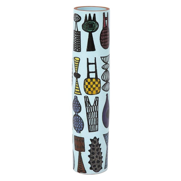 Stig Lindberg Ceramic Vase Gustavsberg Signed Sweden 1960's