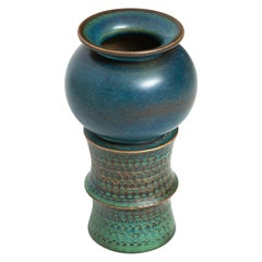 Stig Lindberg Ceramic Vase Produced by Gustavsberg in Sweden