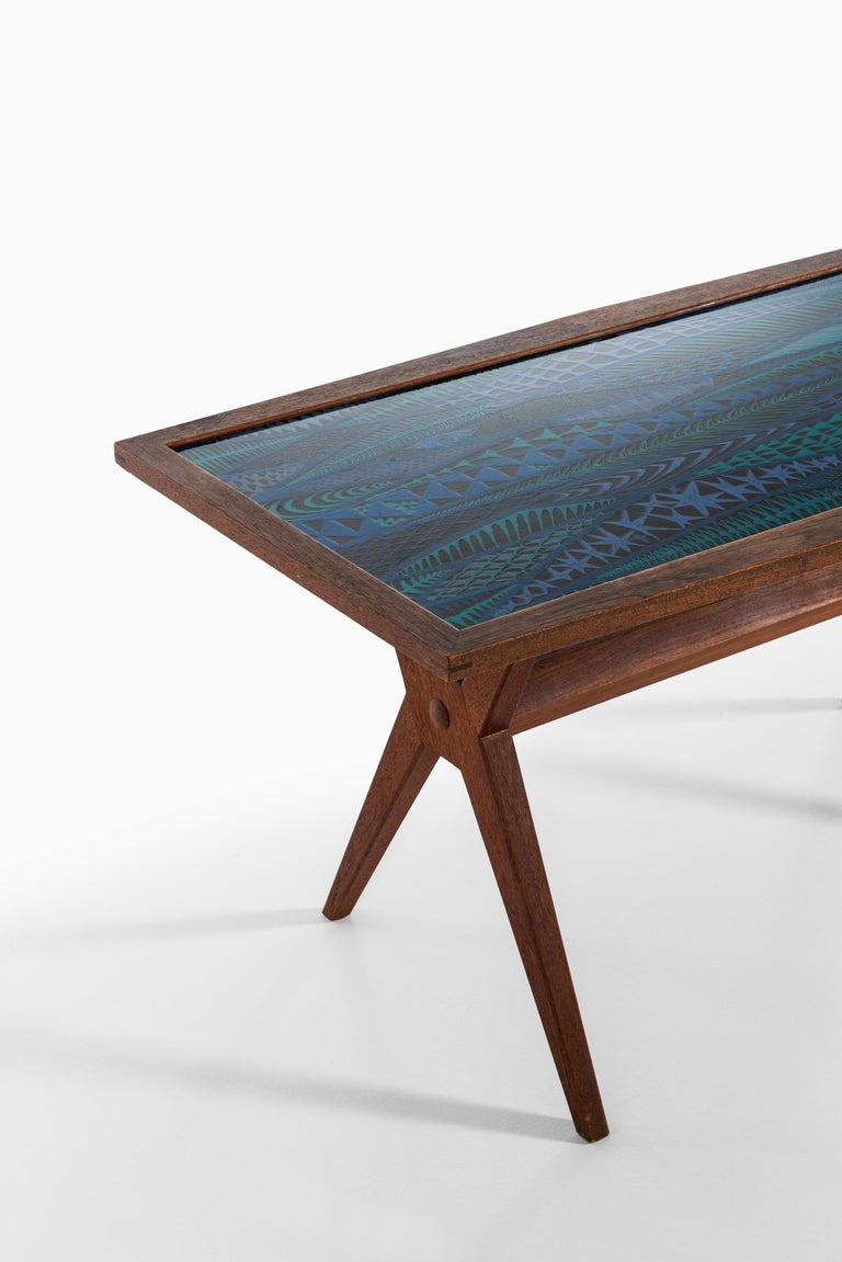 Mid-20th Century Stig Lindberg Coffee Table Produced by Gustavsberg in Sweden For Sale