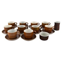 Stig Lindberg for Gustavsberg, Coq Coffee Service for Ten People, 1960's