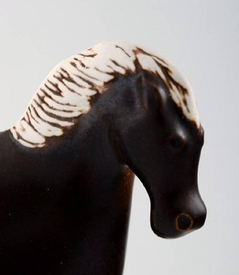 Swedish Stig Lindberg for Gustavsberg, Horse Figure of Stoneware For Sale