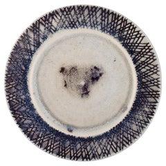 Stig Lindberg for Gustavsberg Studiohand, Large Dish in Glazed Ceramics