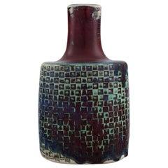 Stig Lindberg for Gustavsberg Studiohand, Vase in Glazed Ceramics