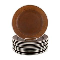 Stig Lindberg for Gustavsberg, Twelve Coq Dinner Plates, 1960's