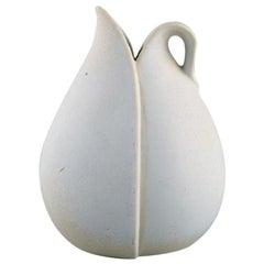 Stig Lindberg for Gustavsberg, Vase with Handle in Glazed Ceramic, 1950s-1960s
