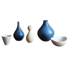 Stig Lindberg, Organic Vases, Stoneware, Gustavsberg, Sweden, 1950s