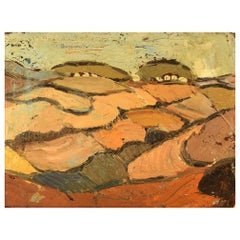 "Stig Thiderman '1920-1973', Swedish painter, ""Terrace Landscape Greece"""