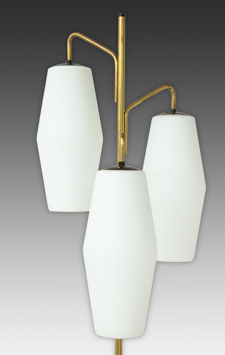 Mid-Century Modern Stiilnovo Pair of Floor Lamps Model 4052 For Sale