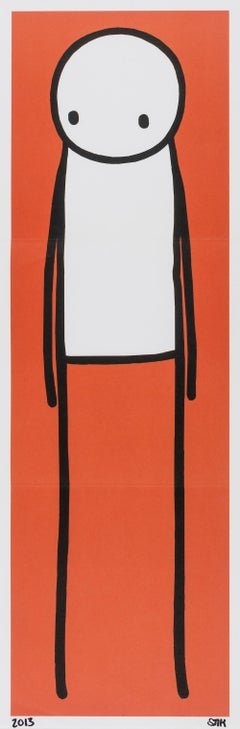 Standing Figure (Red), Print, Lithograph, Street Art by Stik