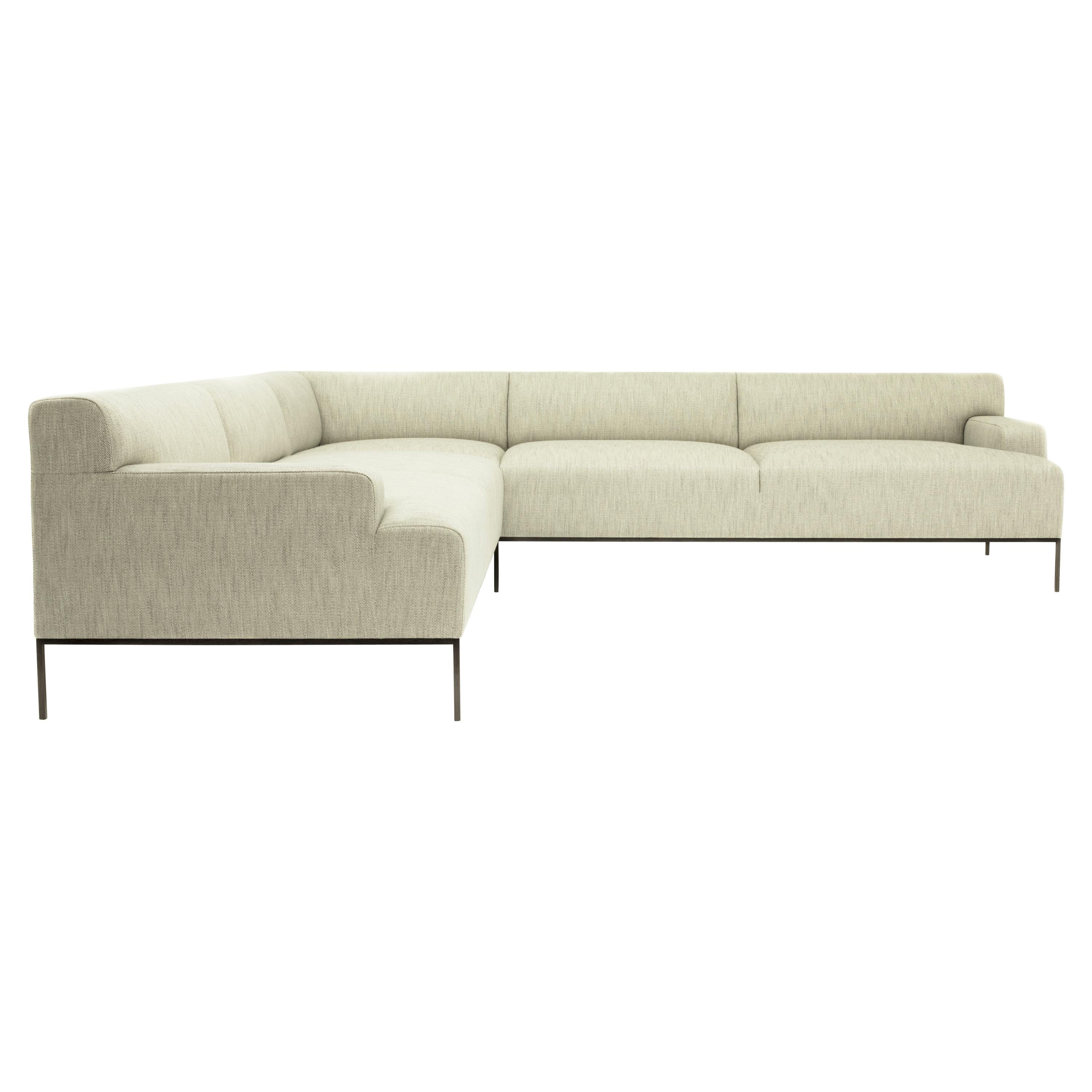 Stiletto Sectional Contemporary Channeling Seat Back Base Tight Seat Back Wengé