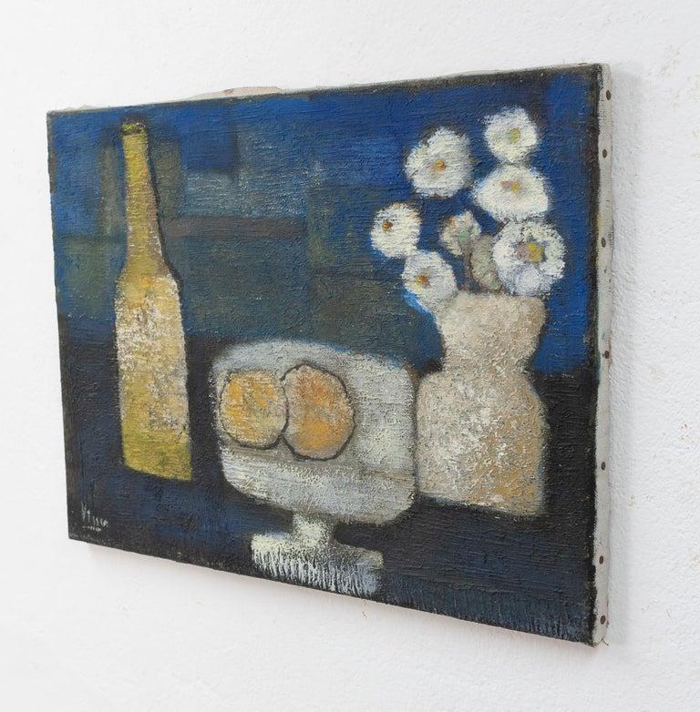 Post-Modern Still Life in Oil on Canvas, G.P. Visser For Sale