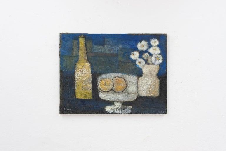 Dutch Still Life in Oil on Canvas, G.P. Visser For Sale