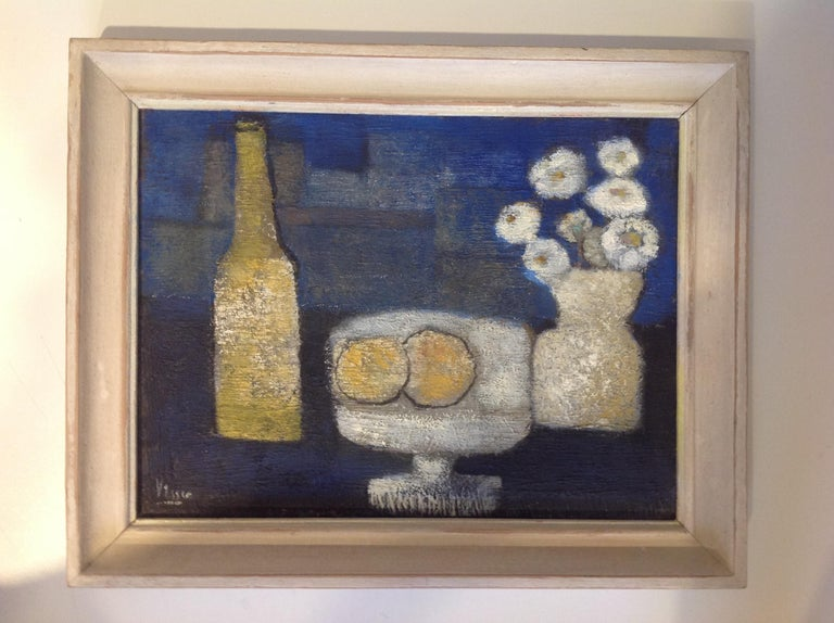Still Life in Oil on Canvas, G.P. Visser In Good Condition For Sale In Den Haag, NL