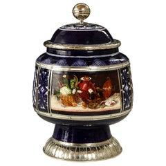 Still Life Jar, Ceramic and White Metal 'Alpaca', Handmade