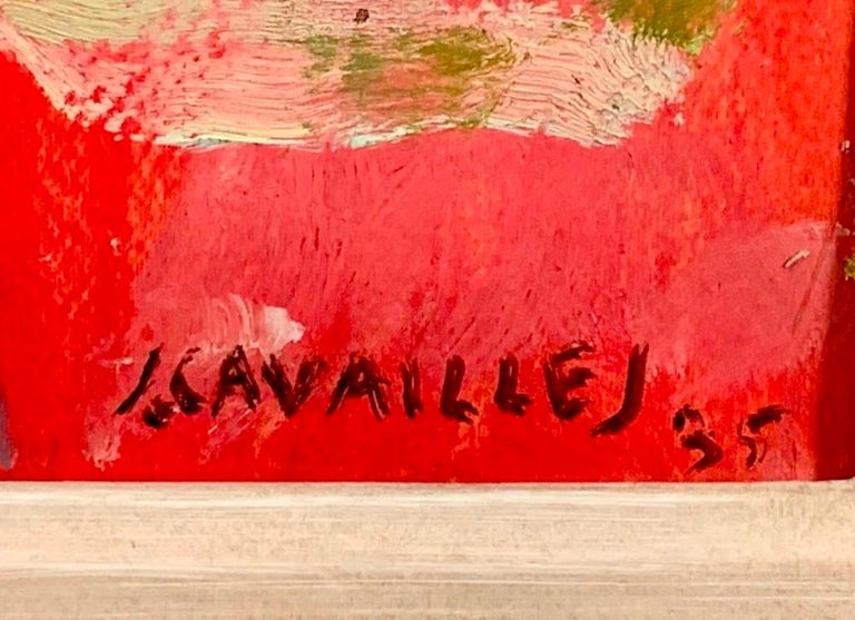 Oil on paper laid on canvas, signed and dated 1935 lower right Jean Jules Louis Cavailles, French, 1901-1977 Size: 23