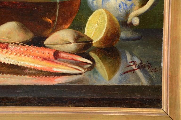 """Spanish """"Still Life"""" Oil on Canvas, Mañanós Martínez, Asterio, 1933 For Sale"""