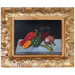 Still Life Oil on Panel Board by Georges Spiro