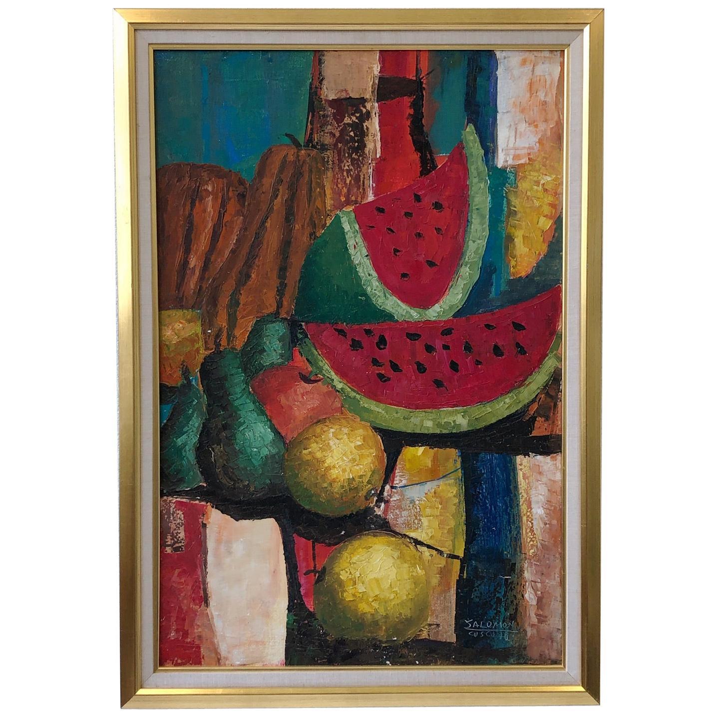 Still Life Oil Painting by Listed Artists Almicar Salomon Zorrilla