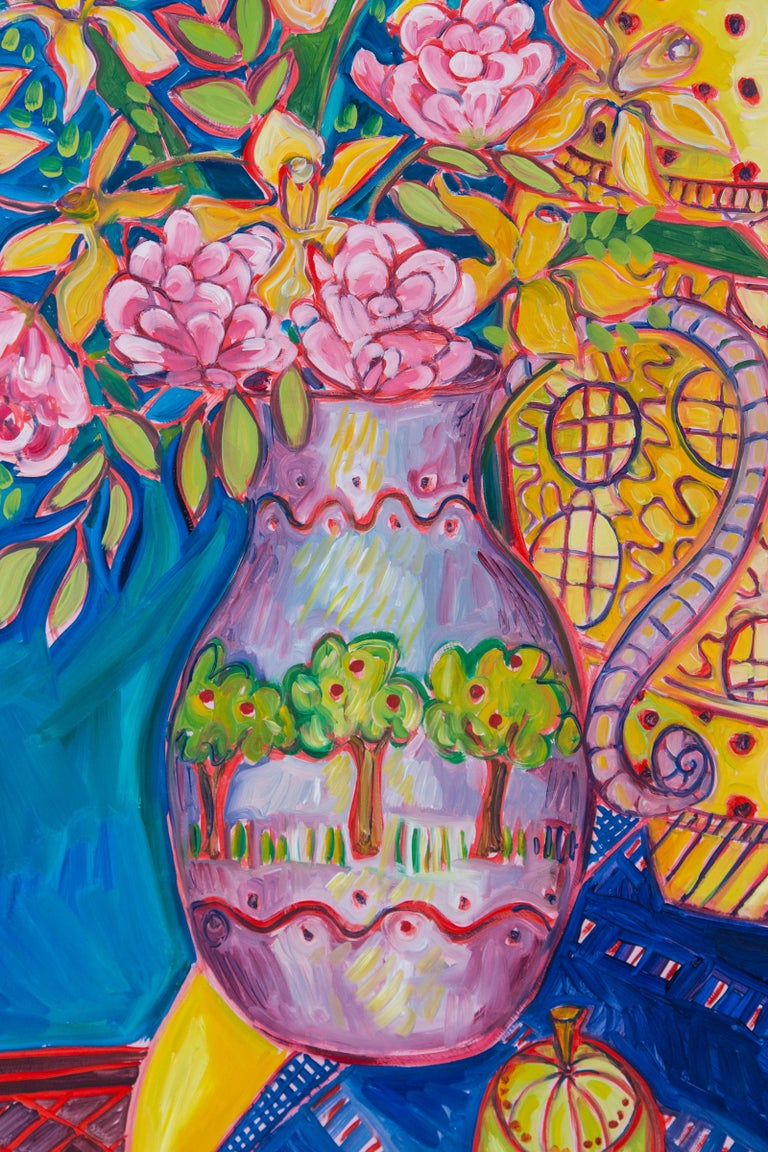 Canadian Still Life Painting, Artist Jane Kewin For Sale