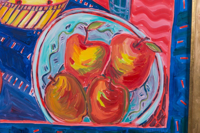 Brushed Still Life Painting, Artist Jane Kewin For Sale