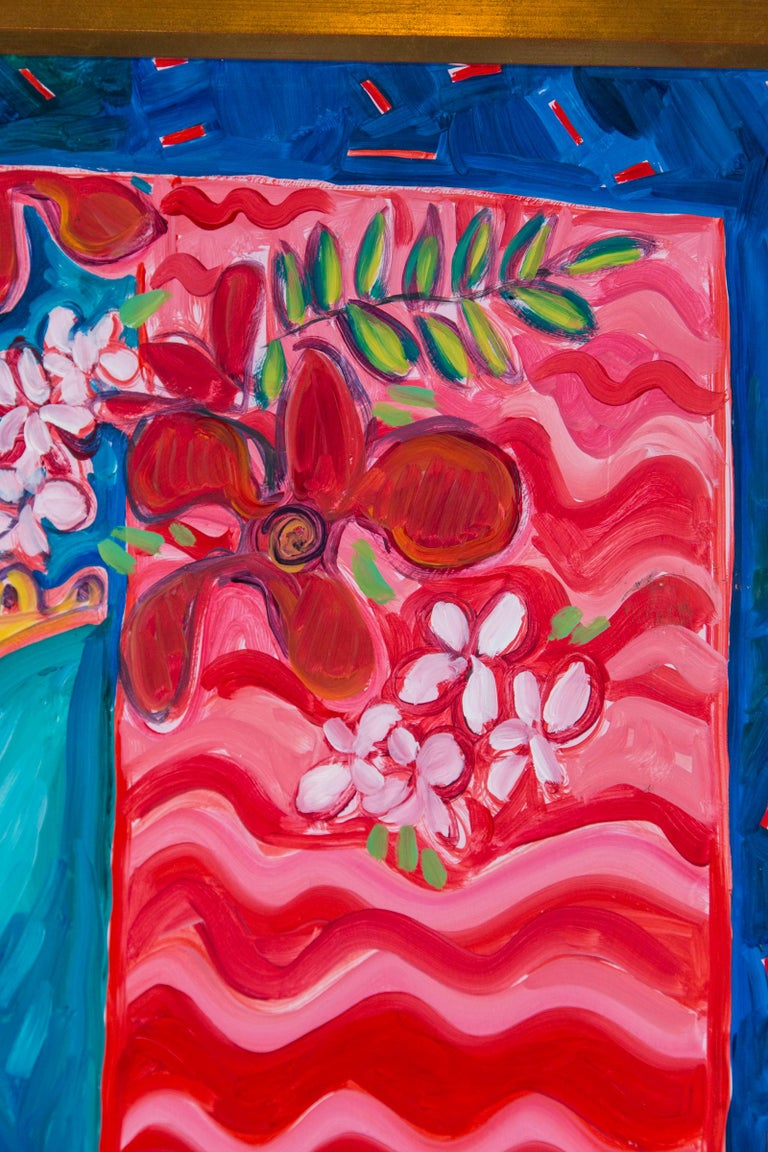 Wood Still Life Painting, Artist Jane Kewin For Sale