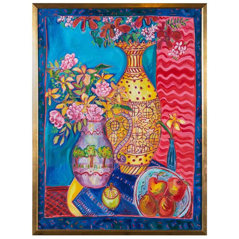 Still Life Painting, Artist Jane Kewin For Sale