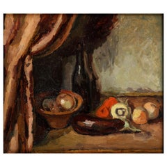 Still Life with Black Bottle and an Aubergine, 1926