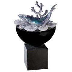 Still Life with Fish & Molluscs, a Glass Still Life Art Work by Elliot Walker