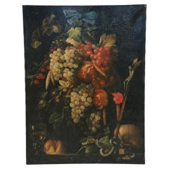 Still Life with Grapes Painting on Canvas
