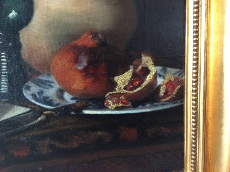 Still-Life with Pomegranate, Jug and Glass Etc In Good Condition For Sale In Lyngby, DK